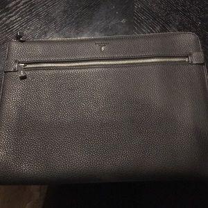 Other - Serapian black leather porfolio